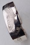 silber armreifen handgraviert