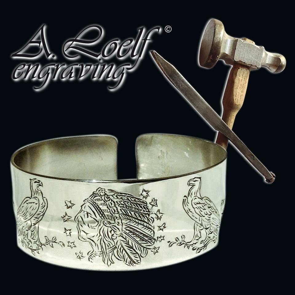 engraved silver bangles - handgravierte silber armreifen